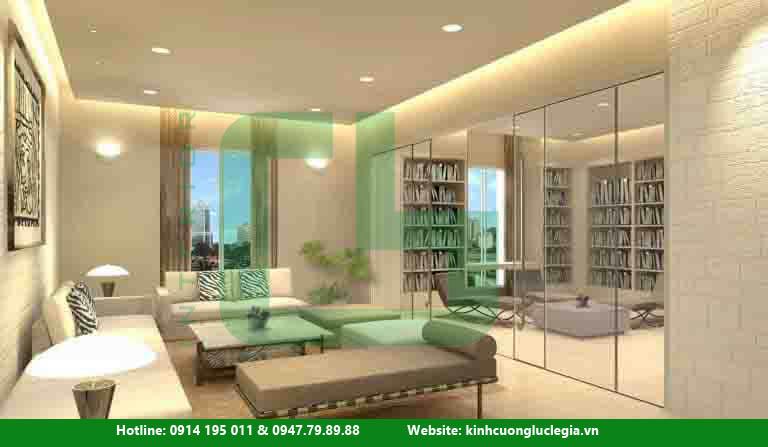 Thiết kế kính cường lực cho nhà biệt thự