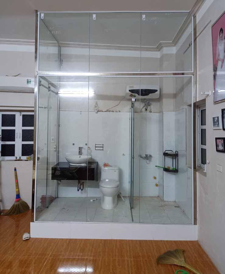 Mẫu cửa kính cường lực đẹp cho phòng tắm