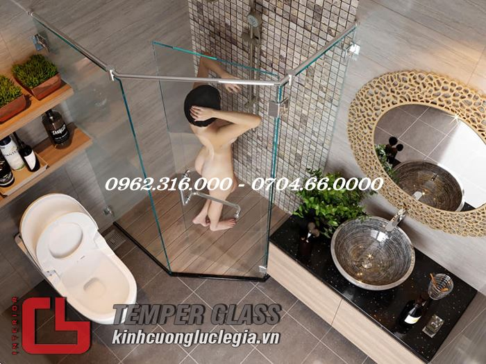 Thiết kế phòng tắm kính đẹp Lê Gia