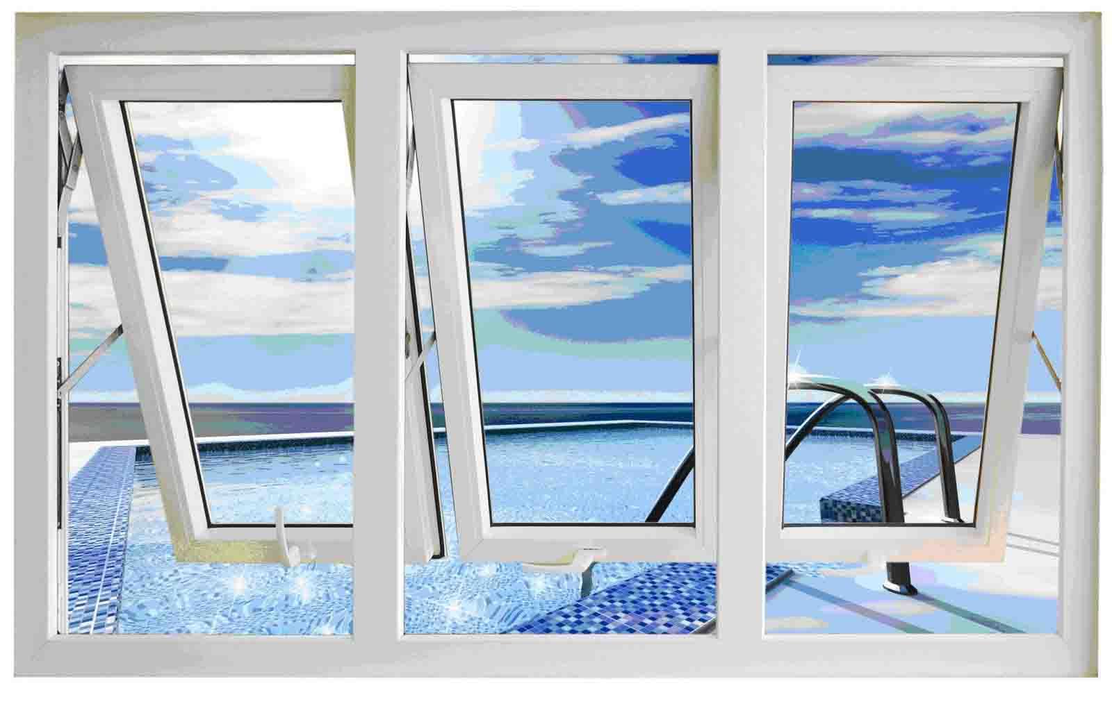 cửa sổ khung nhôm kính đẹp